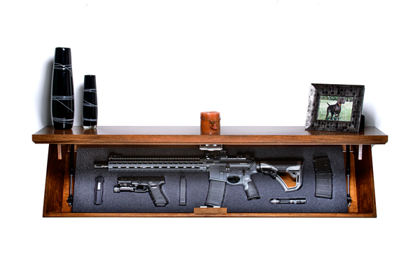 Gun Shelf Shelf Safe Hidden Compartment Locks With Rfid